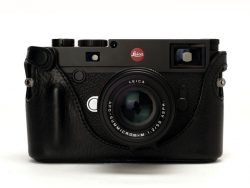 Black Leather Half Case for Leica M10