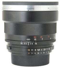 Zeiss 85mm F1.4 Planar ZF-2 + Hood
