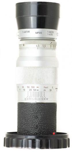 Leitz 13.5cm F4.5 Hektor-M + Hood