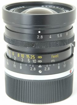 Leitz 28mm f2.8 Elmarit-M Type 2 Black