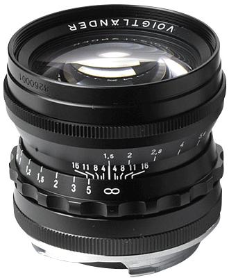 50 f/1.5 Nokton Aspherical (Black)