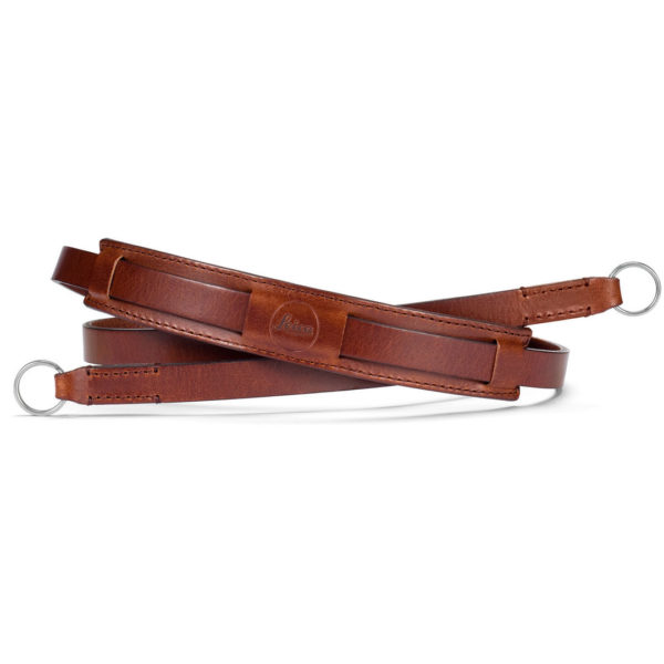 Neck strap vintage, leather, brown